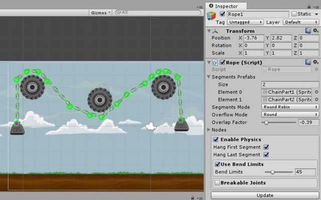 2D Rope Editor