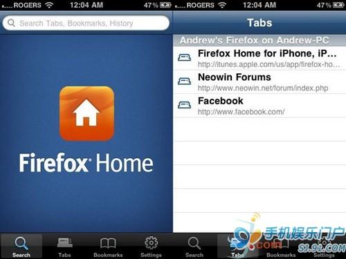 Firefox Home将出Symbian版本 云端存储功能